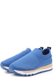 Текстильные кроссовки Jade с джутовым рантом DKNY