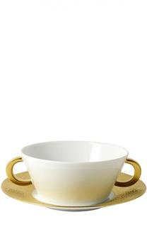 Пиала для супа с блюдцем Ecume Or Bernardaud