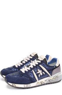Комбинированные кроссовки Diane с пайетками Premiata