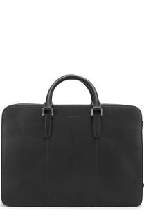 Кожаная сумка для ноутбука с внешним карманом Kiton