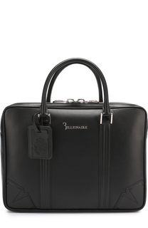 Кожаная сумка для ноутбука с двумя отделениями на молнии Billionaire