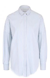 Хлопковая блуза в полоску со спущенным рукавом Iro