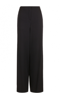 Шелковые расклешенные брюки в горох Diane Von Furstenberg