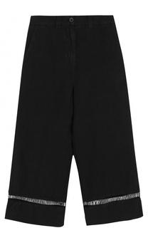 Укороченные льняные брюки с карманами 120% Lino