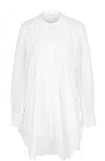 Удлиненная блуза свободного кроя с воротником-стойкой Chloé