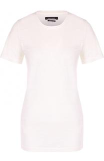 Льняная удлиненная футболка с круглым вырезом Isabel Marant