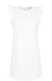 Кружевное мини-платье с оборками MICHAEL Michael Kors