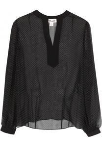 Шелковая полупрозрачная блуза в горох Diane Von Furstenberg