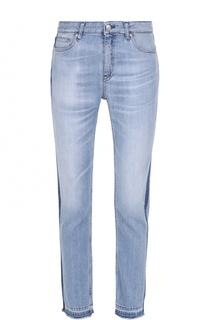 Укороченные джинсы с лампасами и бахромой Iro