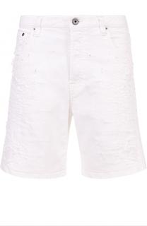 Джинсовые шорты с декоративными потертостями Just Cavalli