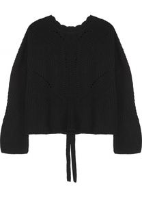 Пуловер фактурной вязки со шнуровкой на спинке Isabel Marant