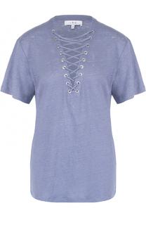 Удлиненная льняная футболка со шнуровкой Iro