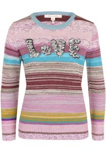 Пуловер прямого кроя с вышивкой пайетками Marc Jacobs