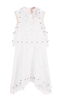 Кружевное платье асимметричного кроя без рукавов No. 21