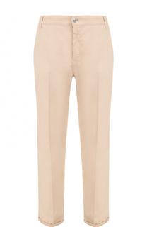 Укороченные брюки с отворотами и карманами Escada Sport