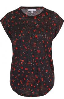 Удлиненная льняная футболка с цветочным принтом Iro