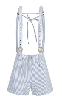 Мини-шорты в полоску с подтяжками Kenzo