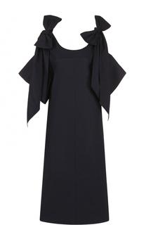 Платье А-силуэта с открытыми плечами и бантами Chloé