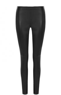 Кожаные брюки-скинни с завышенной талией Philipp Plein