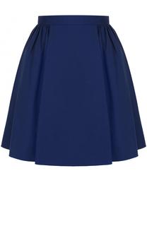 Хлопковая мини-юбка со складками REDVALENTINO