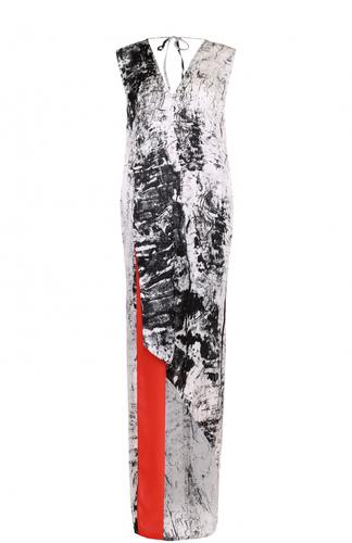 Платье-макси асимметричного кроя с V-образным вырезом Ilaria Nistri