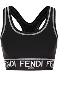 Спортивный укороченный топ с логотипом бренда Fendi
