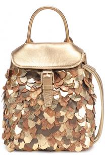 Рюкзак из металлизированной кожи Ralph Lauren