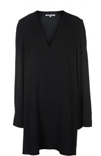 Мини-платье с удлиненным рукавом и V-образным вырезом Helmut Lang