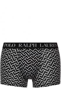 Хлопковые боксеры с широкой резинкой и контрастным принтом Ralph Lauren