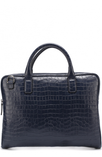 Кожаная сумка для ноутбука Armani Collezioni