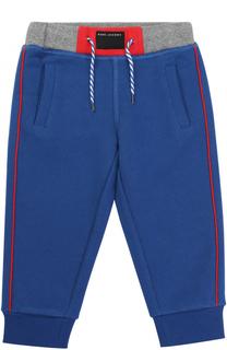 Хлопковые джоггеры с контрастной отделкой и накладным карманом Marc Jacobs