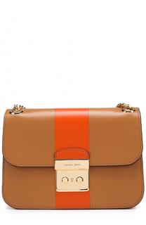 Двухцветная сумка Sloan Editor Medium MICHAEL Michael Kors