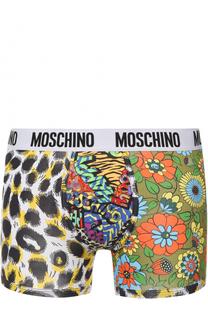 Хлопковые боксеры с принтом Moschino