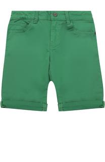 Хлопковые шорты с отворотами Giorgio Armani