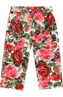 Хлопковые брюки свободного кроя с принтом Dolce & Gabbana