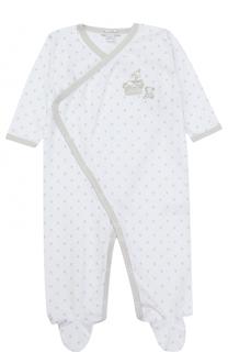 Хлопковая пижама с принтом и вышивками Kissy Kissy