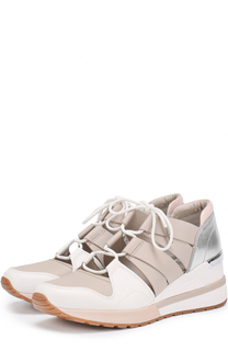 Кожаные кроссовки Becket с вырезами MICHAEL Michael Kors