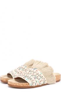 Текстильные шлепанцы Nolan с декором Chloé