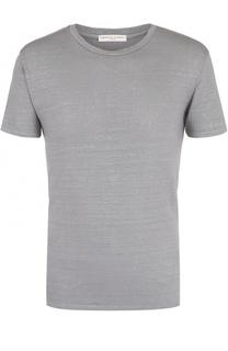 Льняная футболка с круглым вырезом Daniele Fiesoli