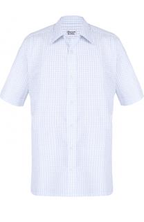 Рубашка из смеси хлопка и льна с короткими рукавами Charvet