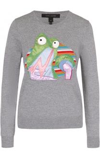 Пуловер прямого кроя с яркой вышивкой Marc Jacobs
