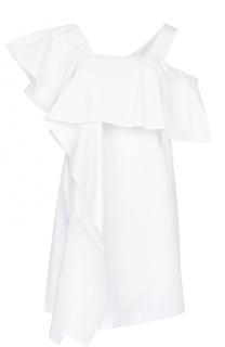 Хлопковое платье асимметричного кроя с открытым плечом Dorothee Schumacher
