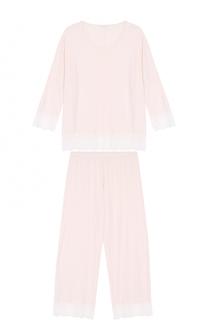 Пижама с контрастной кружевной отделкой Zimmerli
