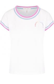 Хлопковая футболка с контрастной отделкой Marc Jacobs