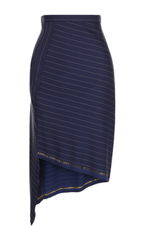 Мини-юбка асимметричного кроя в полоску Aquilano Rimondi