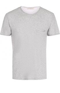 Хлопковая футболка с нагрудным карманом Daniele Fiesoli