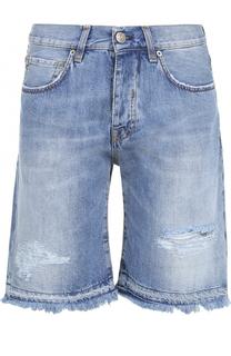 Джинсовые шорты с необработанным краем 2 Men Jeans