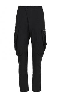 Льняные брюки карго с заниженной линией шага Masnada