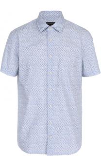 Хлопковая рубашка с короткими рукавами Baldessarini