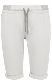 Хлопковые шорты с поясом на резинке Capobianco